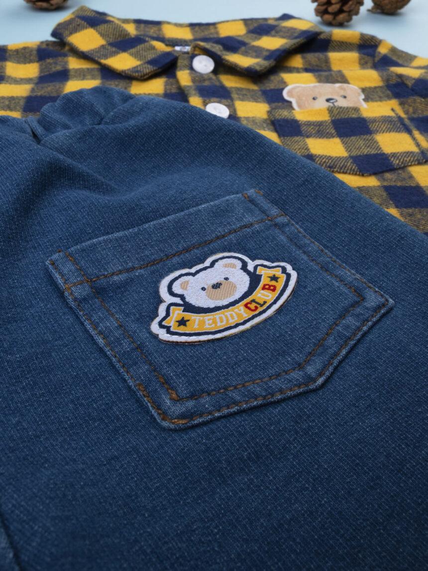 Jeans e macacão de flanela de menino - Prénatal