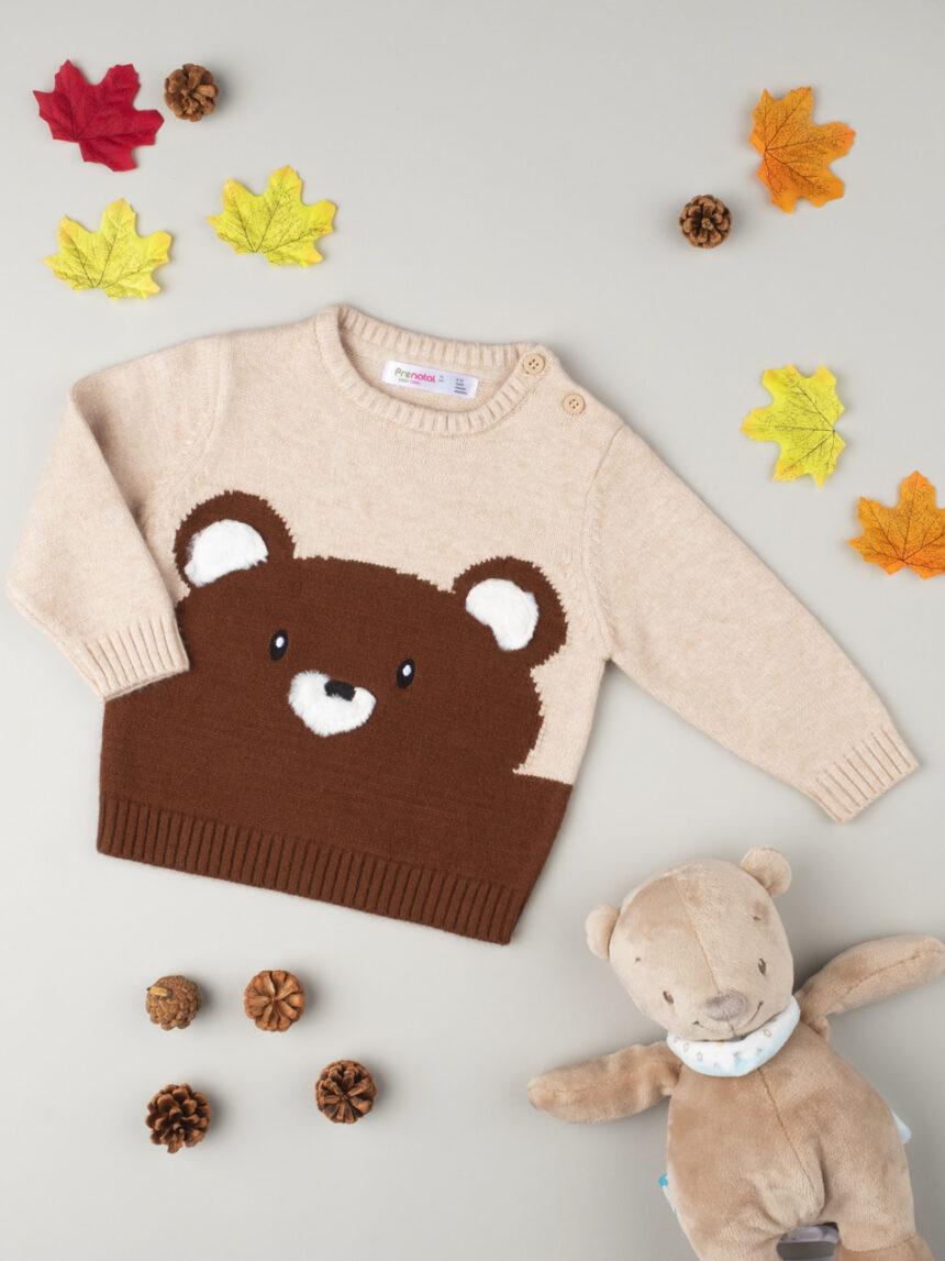 "Suéter tricot masculino ""teddy bear"" - Prénatal"