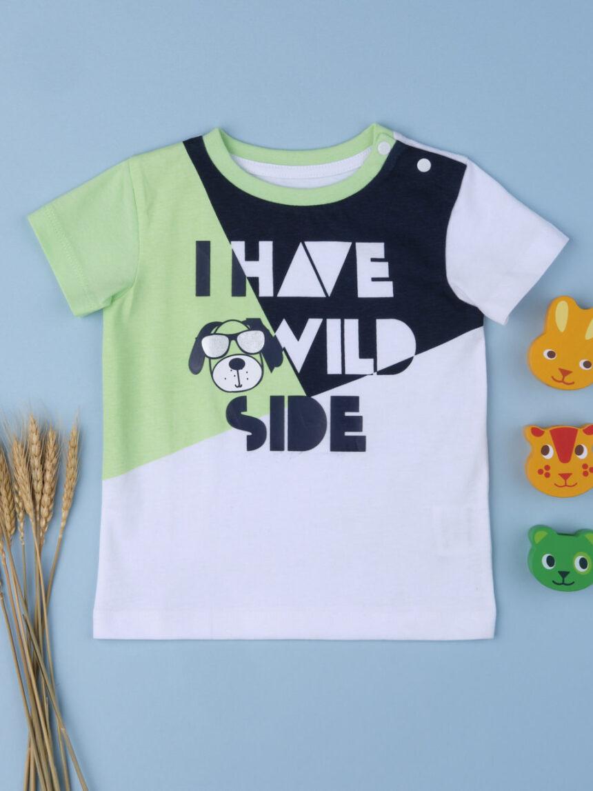 "Menino da camiseta ""i have wild side"" - Prénatal"