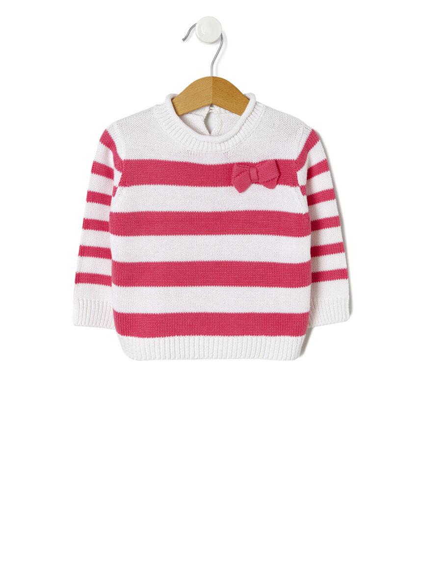 Suéter básico de tricô listrado - Prénatal