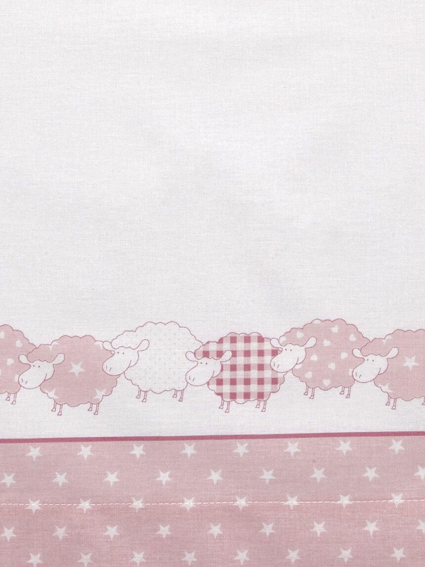 Completo para cama com ovelhas rosa e estrelas - Prénatal