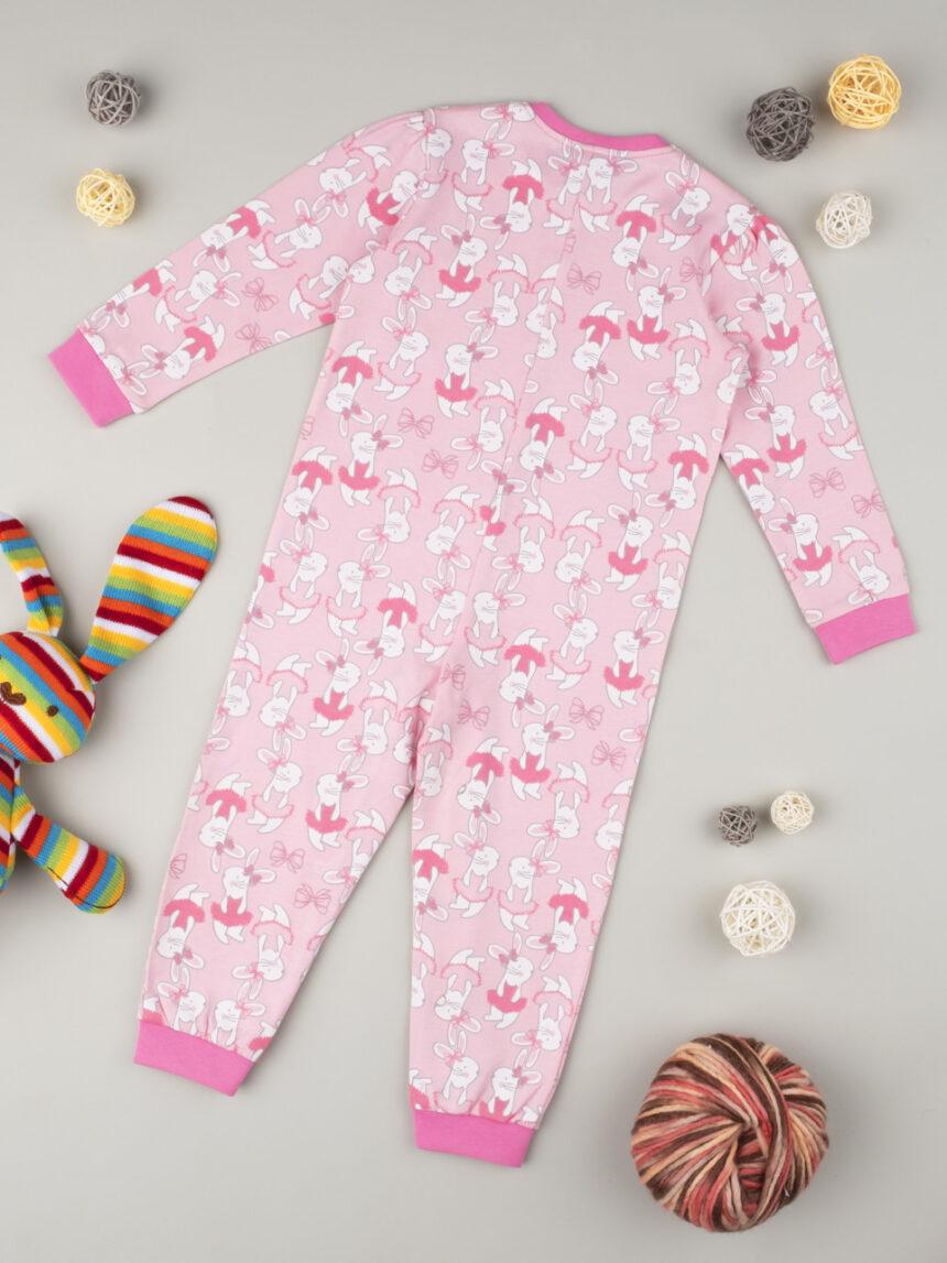 """Garota de pijama """"pink bunnies"""" - Prénatal"""