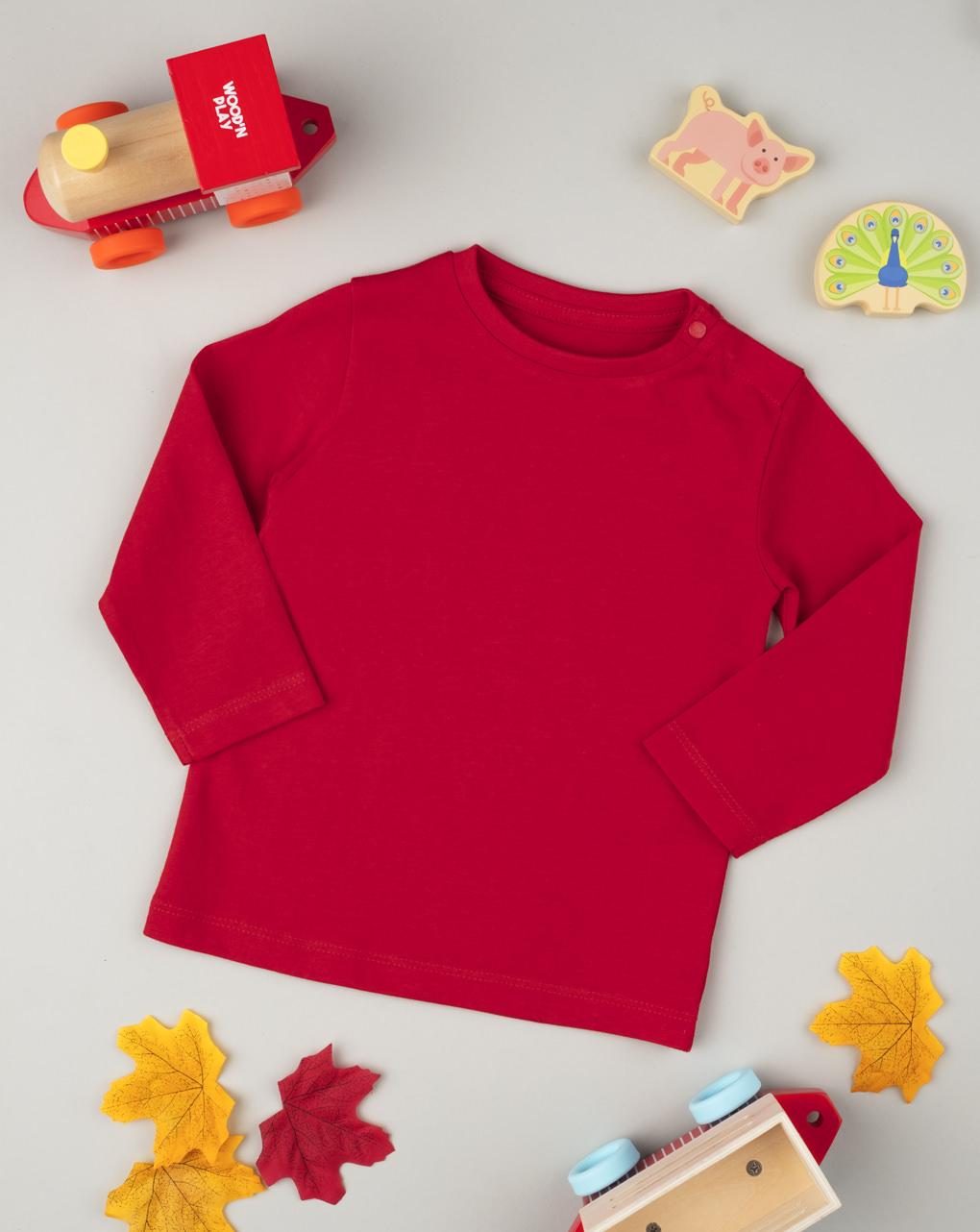 Camiseta manica lunga menino vermelho - Prénatal