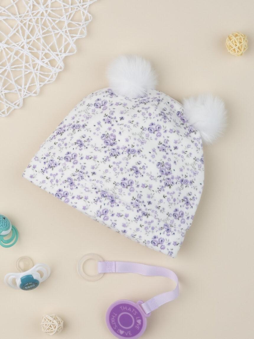 """Chapéu de menina chenille """"floral"""" - Prénatal"""