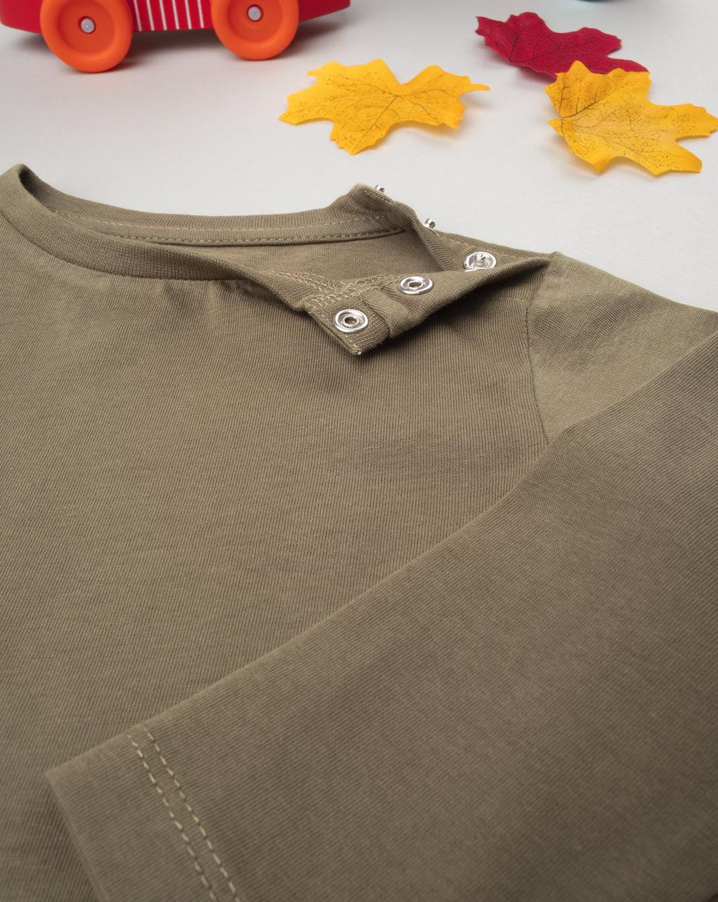 Camiseta marrom de manga comprida - Prénatal