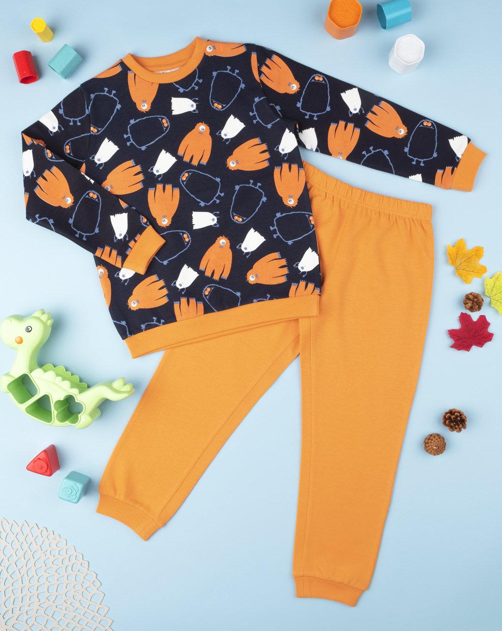 """Pijama de menino """"monstro"""" - Prénatal"""