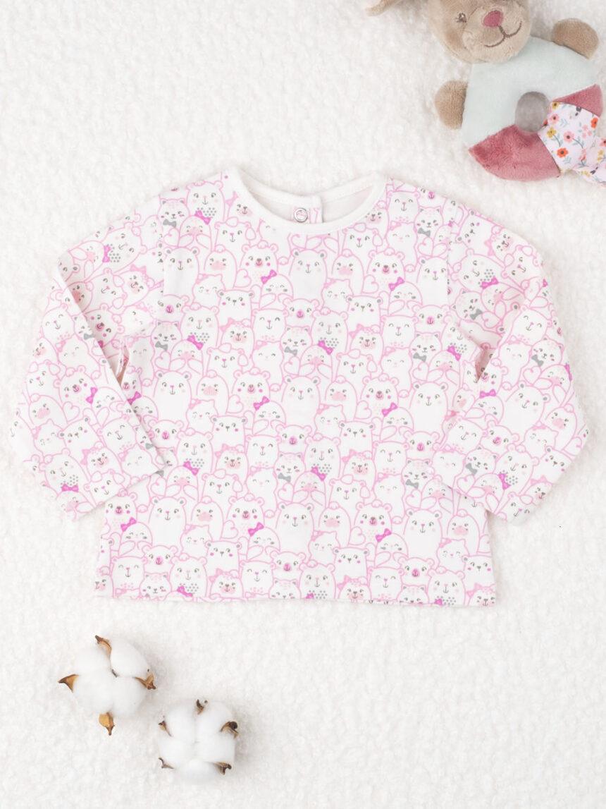 """Camiseta feminina de malha """"gattini white"""" - Prénatal"""