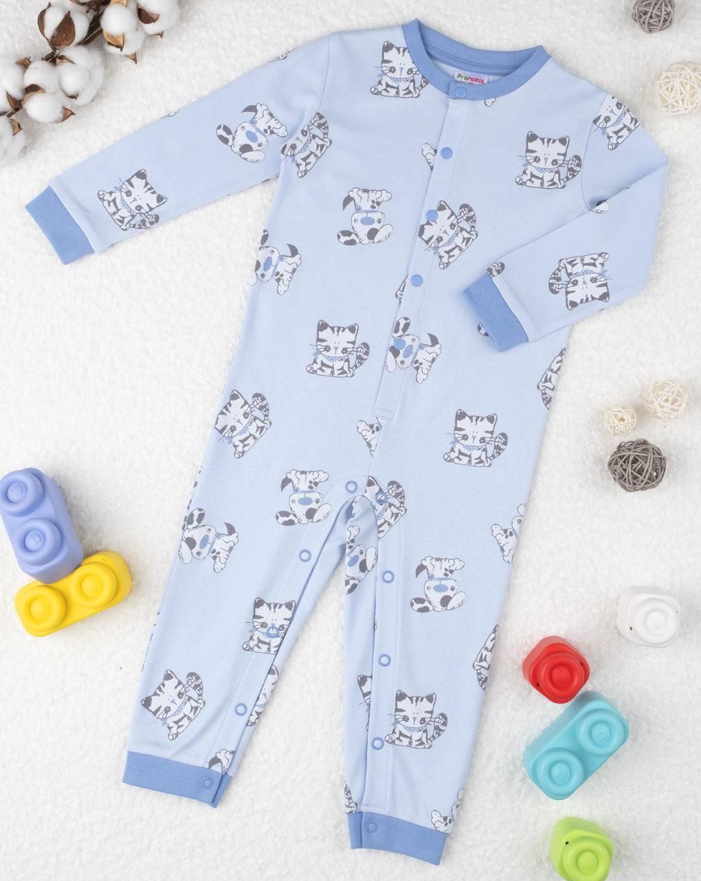 "Pijama de menino azul ""cats"" - Prénatal"