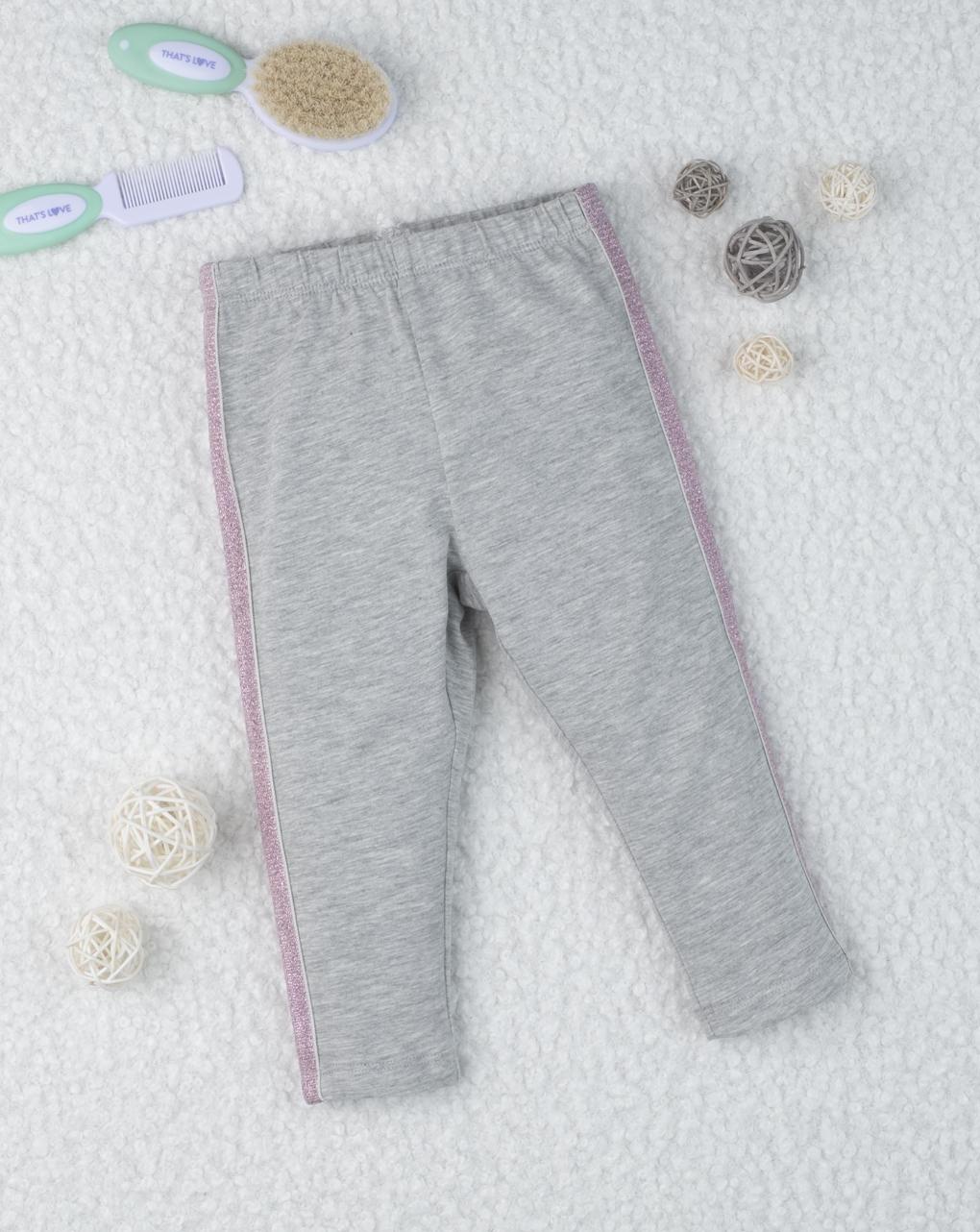 Garota leggings com bande rosa - Prénatal