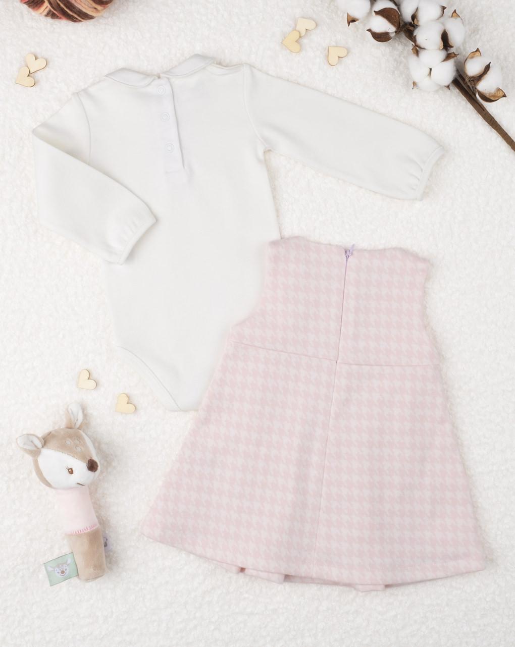 """Garota completa """"avental"""" rosa - Prénatal"""