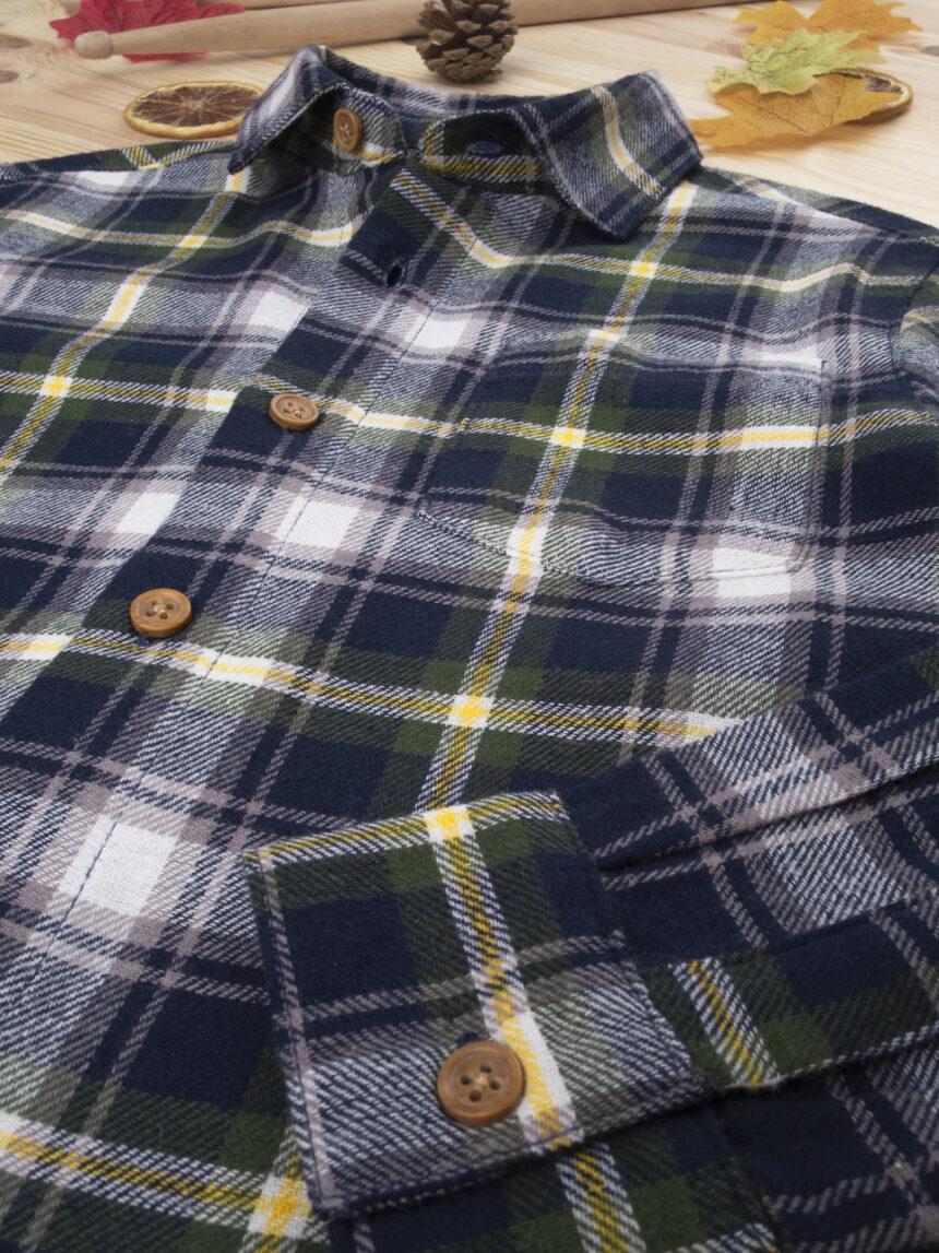 Camisa xadrez kid menino azul - Prénatal
