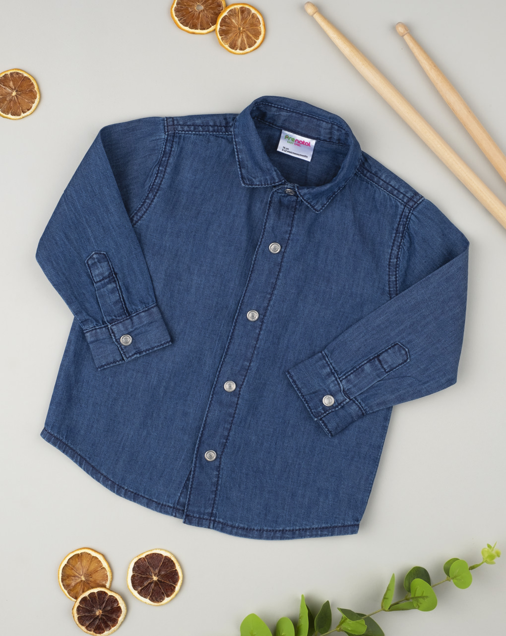 Camisa jeans menino - Prénatal