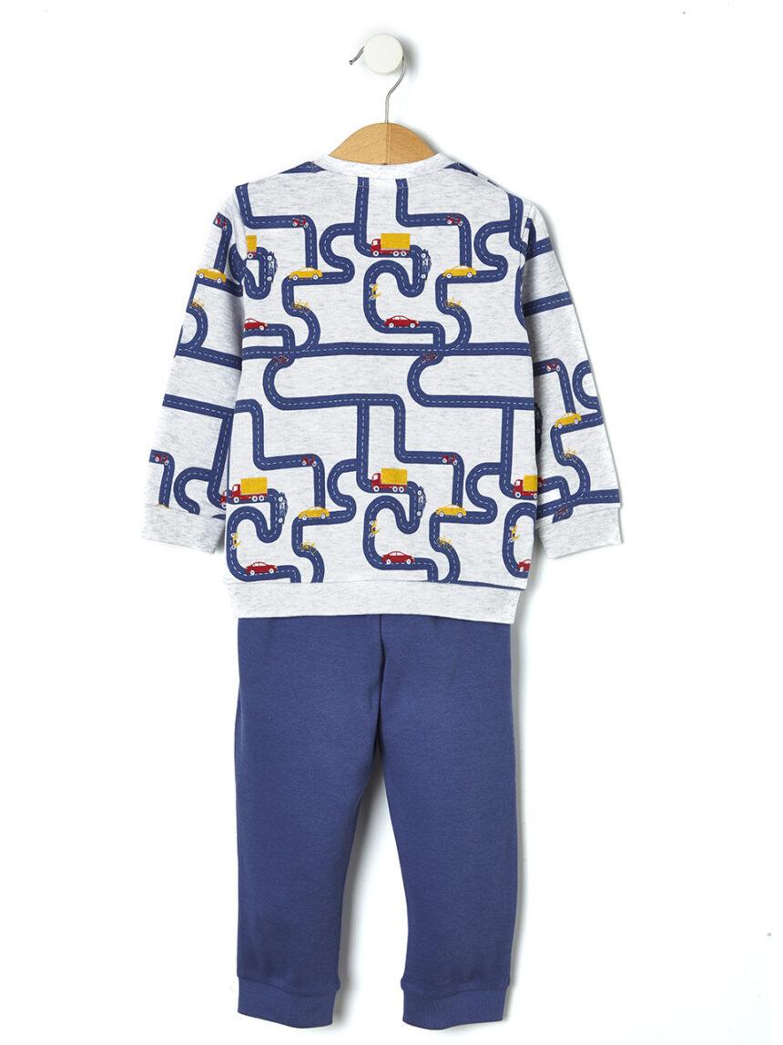 Pijama de duas peças com estampa de carros de brinquedo - Prénatal