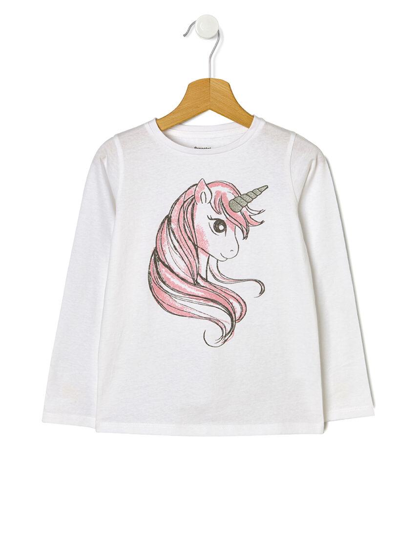 Camiseta básica com estampa de unicórnio - Prénatal