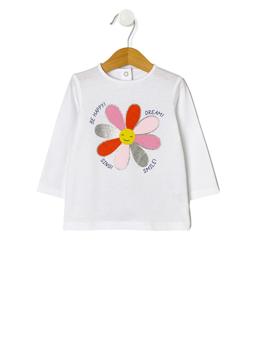 Camiseta básica com estampa floral - Prénatal
