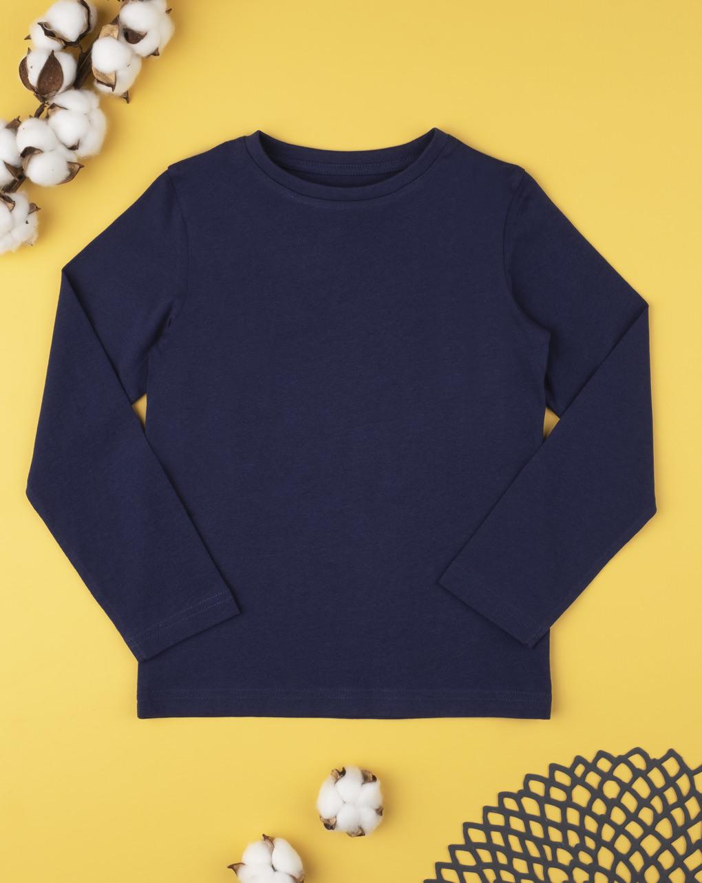 Camiseta tinta unita blu - Prénatal