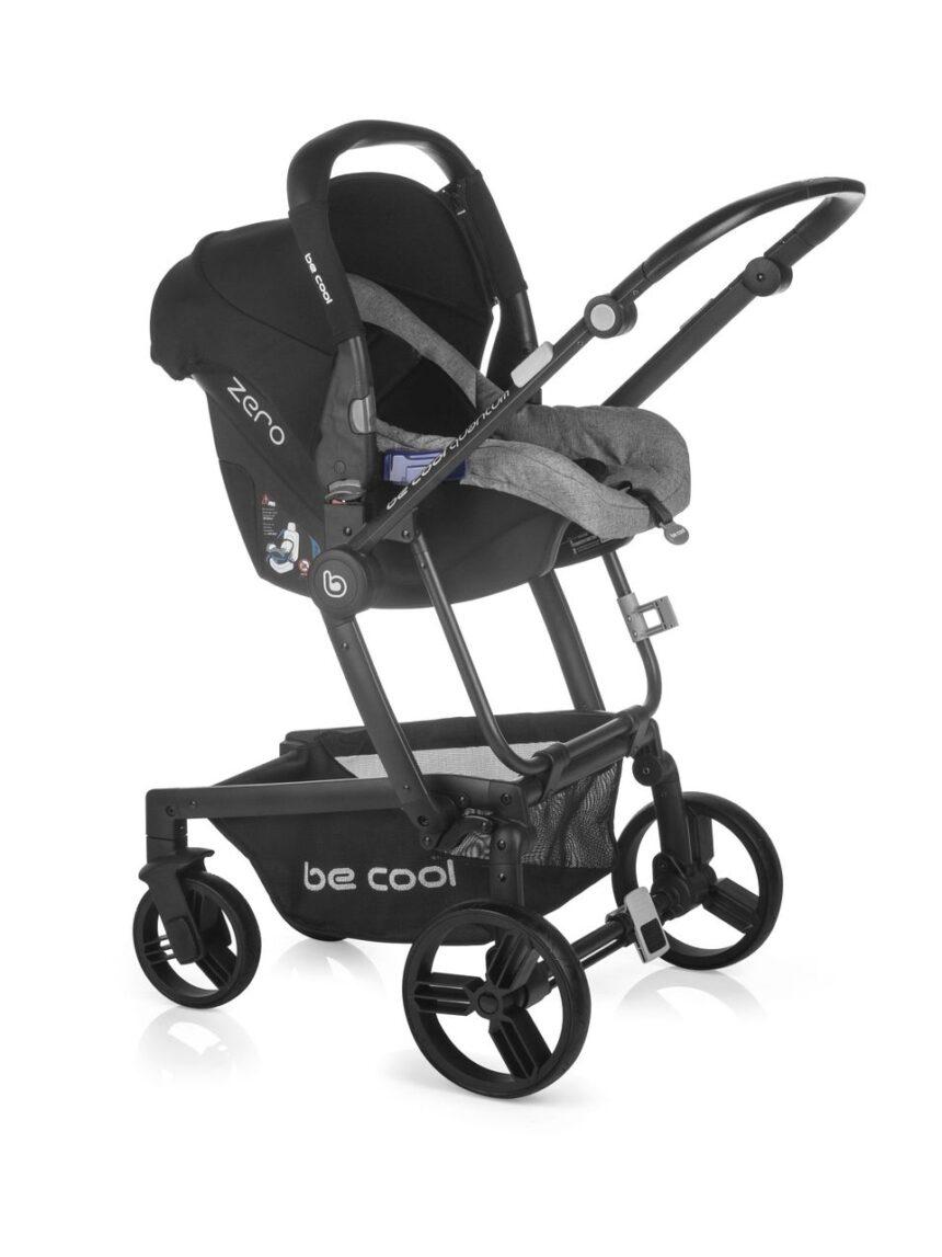 Becool - passeggino quantum 3 top plus solid black - Be Cool