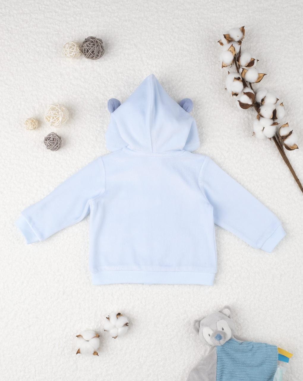 Moletom azul menino - Prénatal