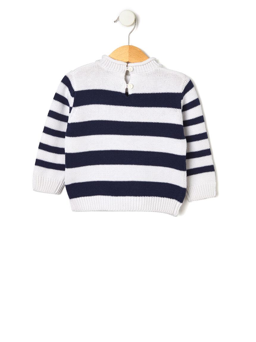Suéter tricot com laço - Prénatal