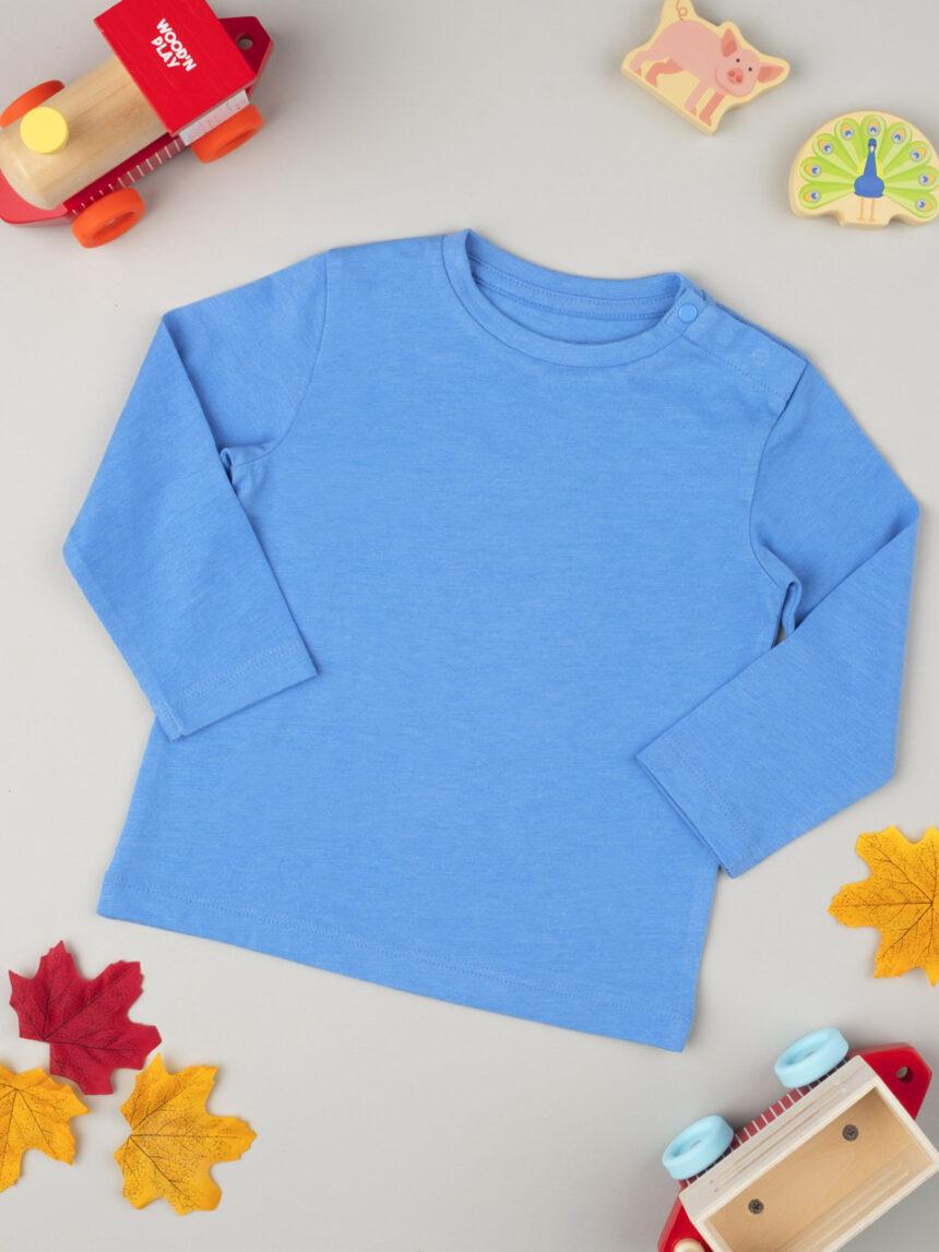 Camiseta de manga comprida de menino azul - Prénatal