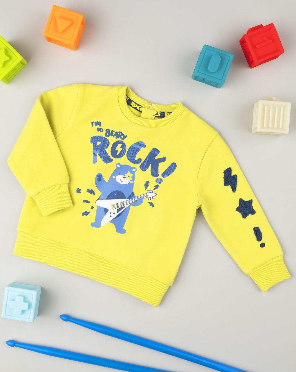 """Suéter masculino """"rock vibe"""" - Prénatal"""