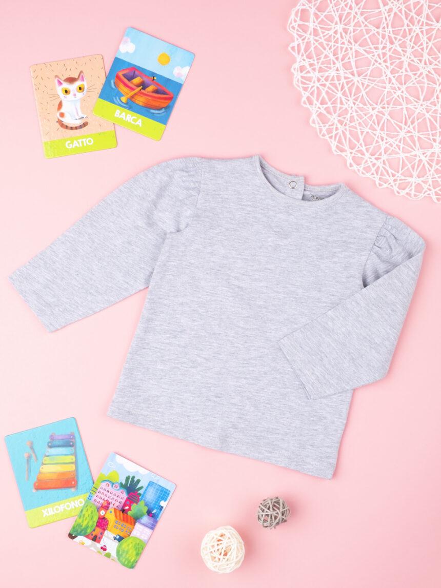 "T-shirt menina ""cinza"" - Prénatal"