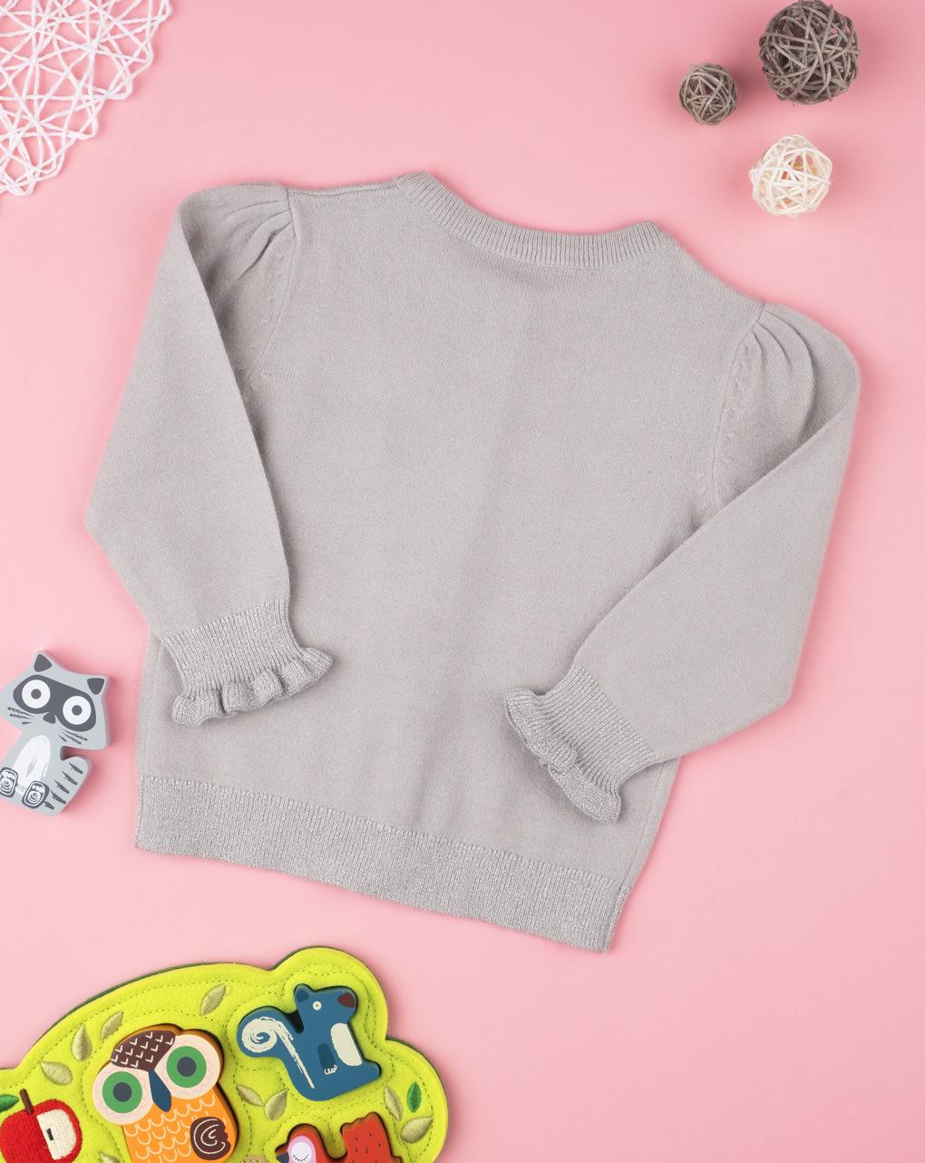 Cardigan tricot feminino cinza - Prénatal