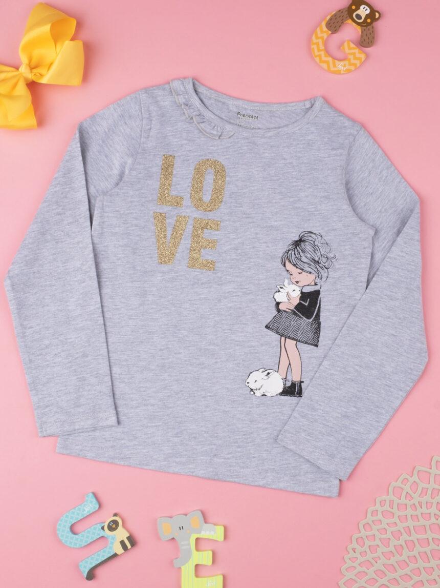 """T-shirt menina """"love"""" - Prénatal"""