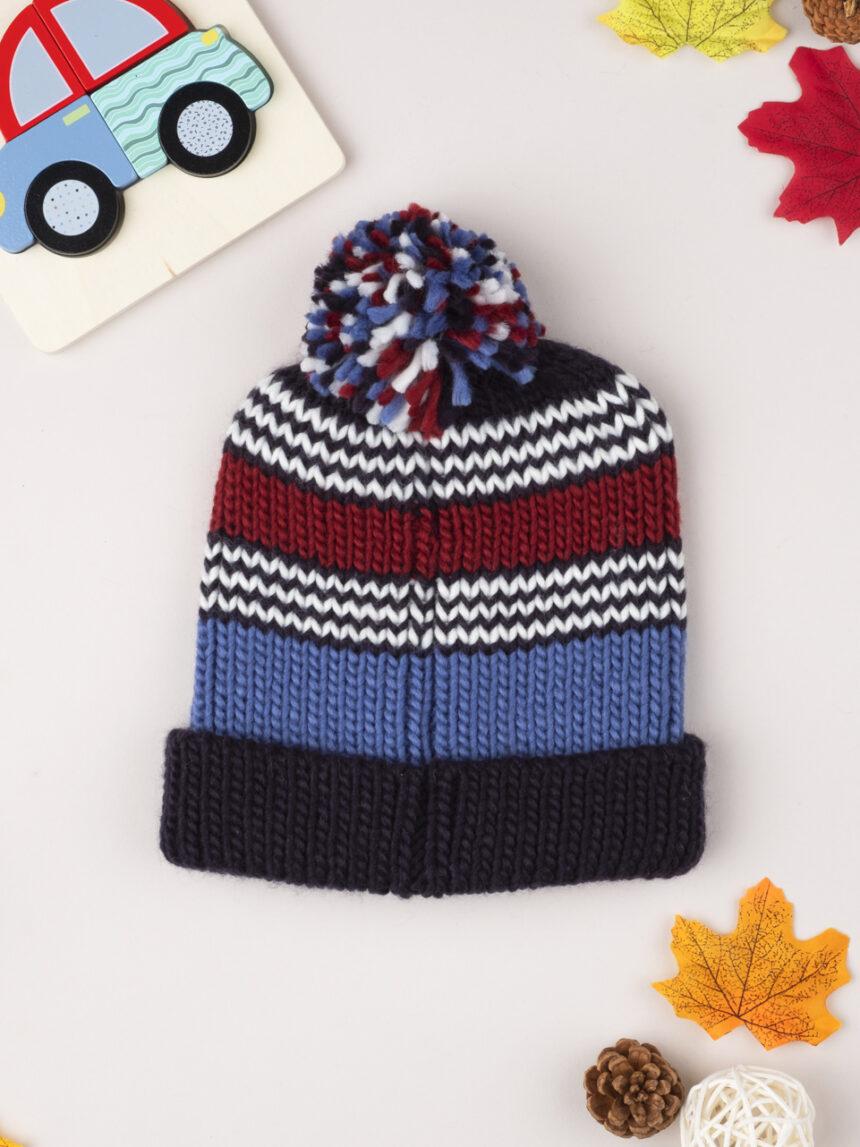 "Chapéu ""listrado"" de menino tricot - Prénatal"