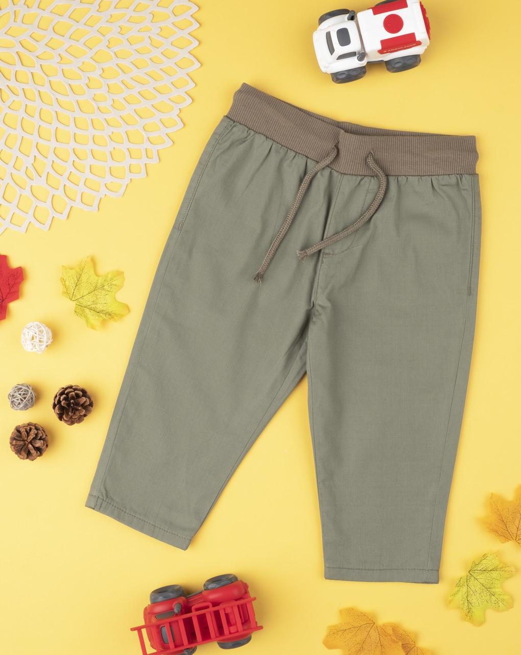 Calça menino verde - Prénatal