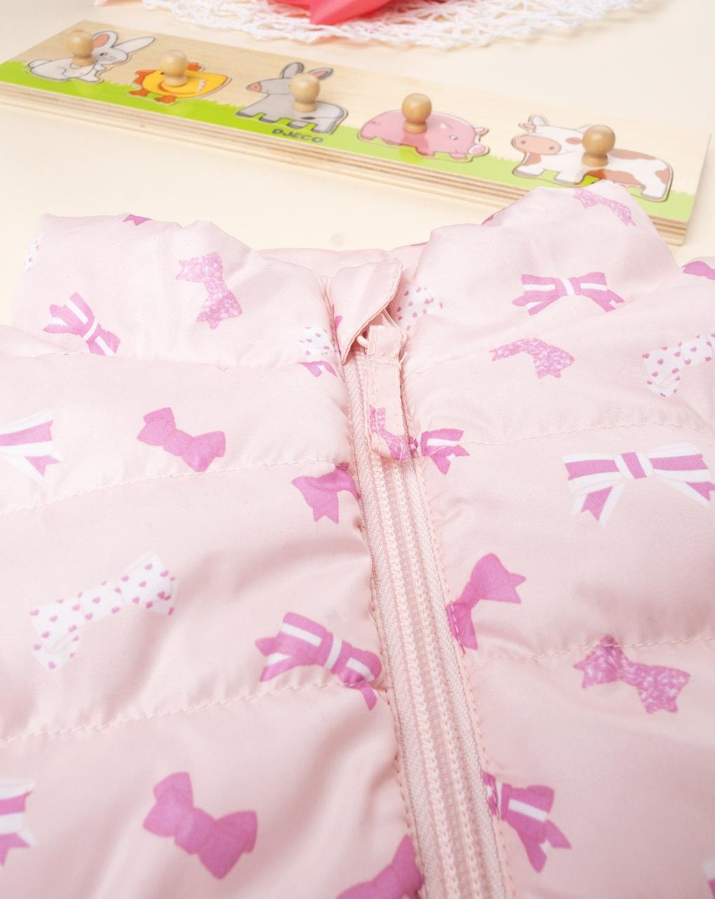 Casaco feminino rosa sem mangas - Prénatal