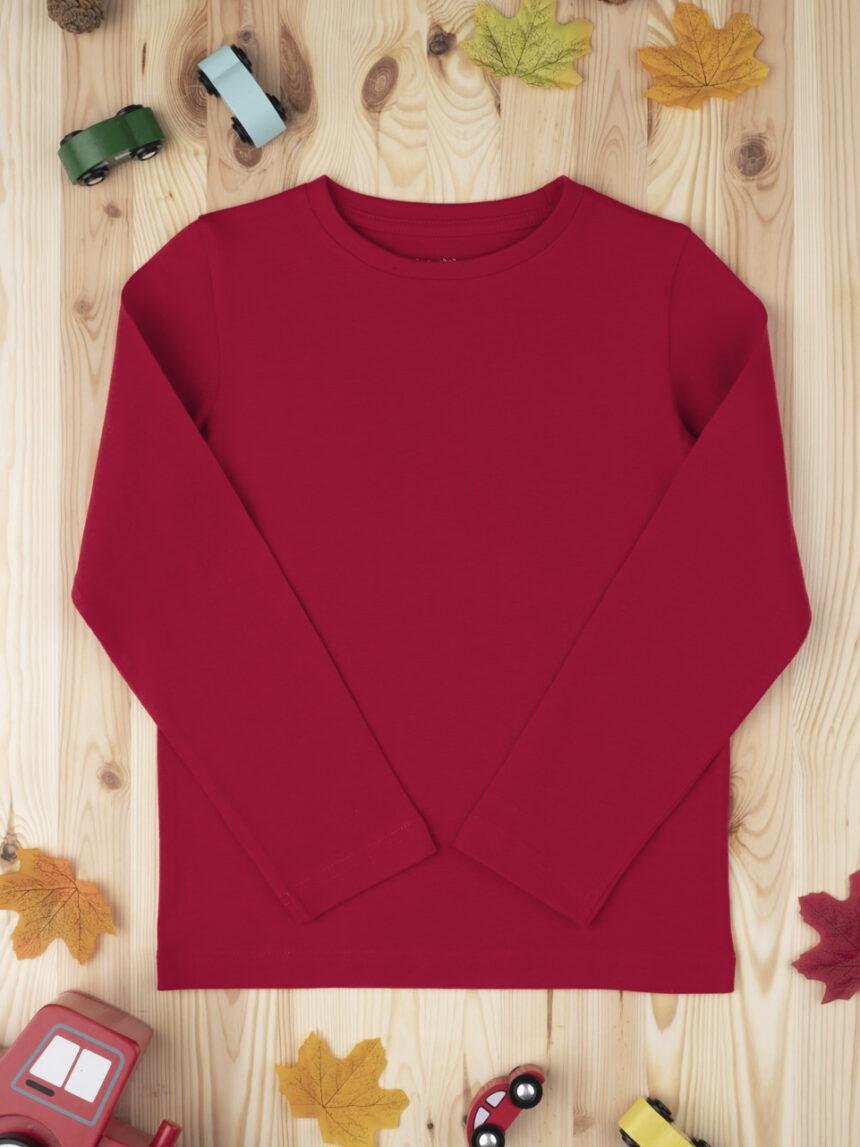Camiseta menino tinta unita vermelha - Prénatal