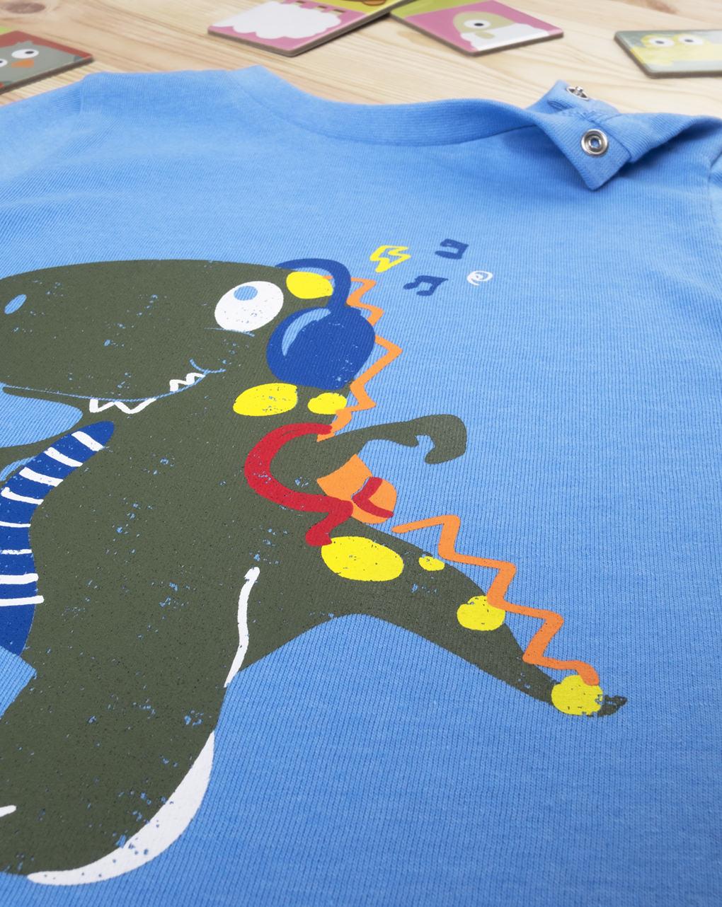 "Menino com camiseta ""dinosauro music"" - Prénatal"
