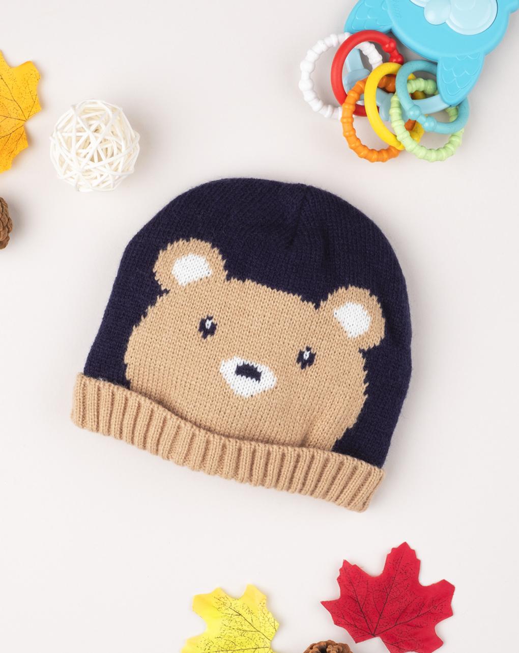 "Boné de tricô masculino ""teddy bear"" - Prénatal"