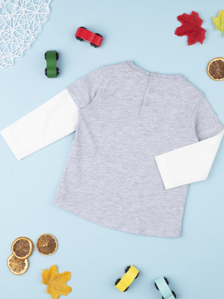 "Camiseta masculina ""fake double"" racer - Prénatal"