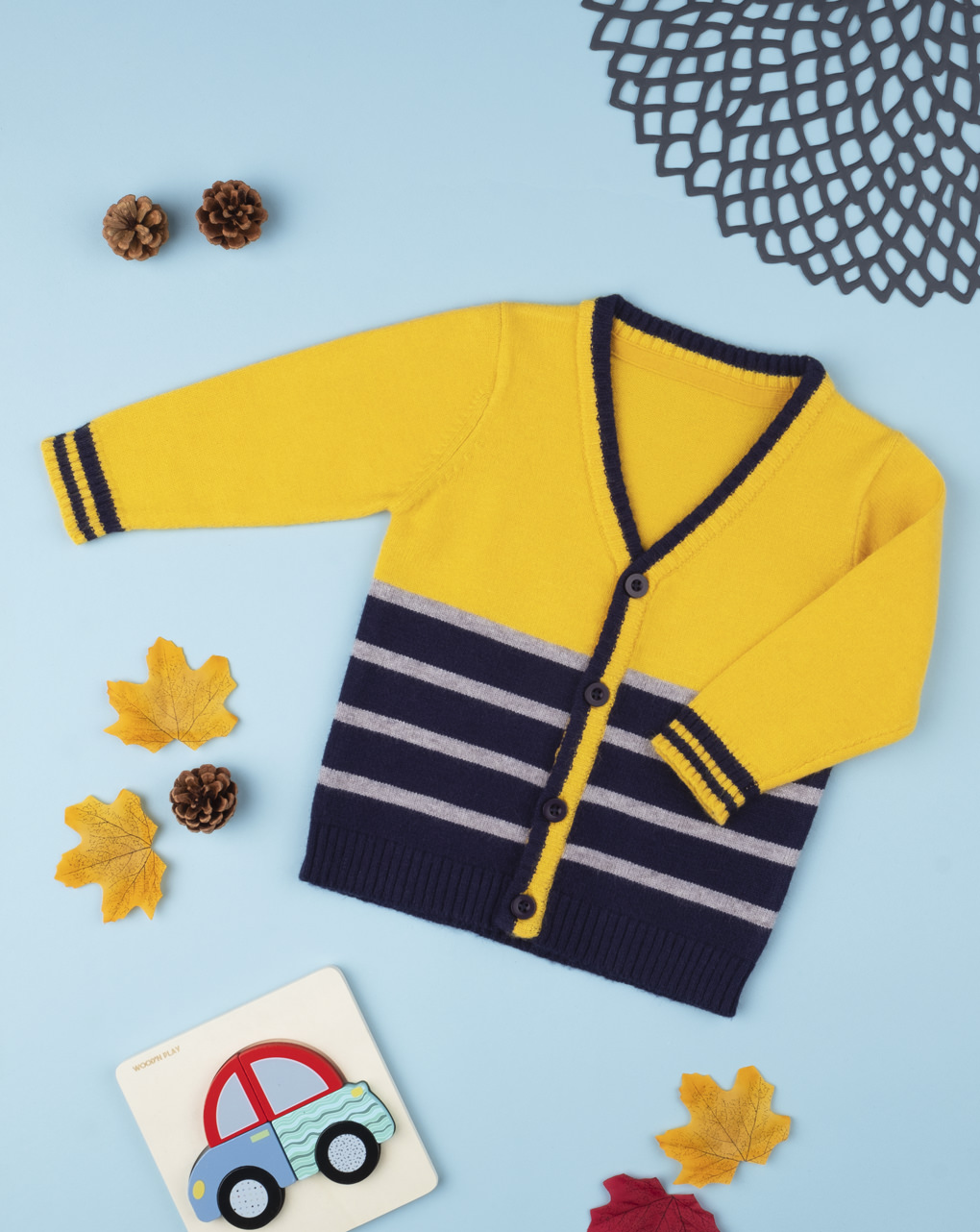 Cardigã de tricô amarelo - Prénatal
