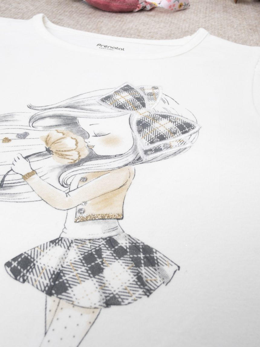 "Camiseta menina bimba ""cream"" - Prénatal"