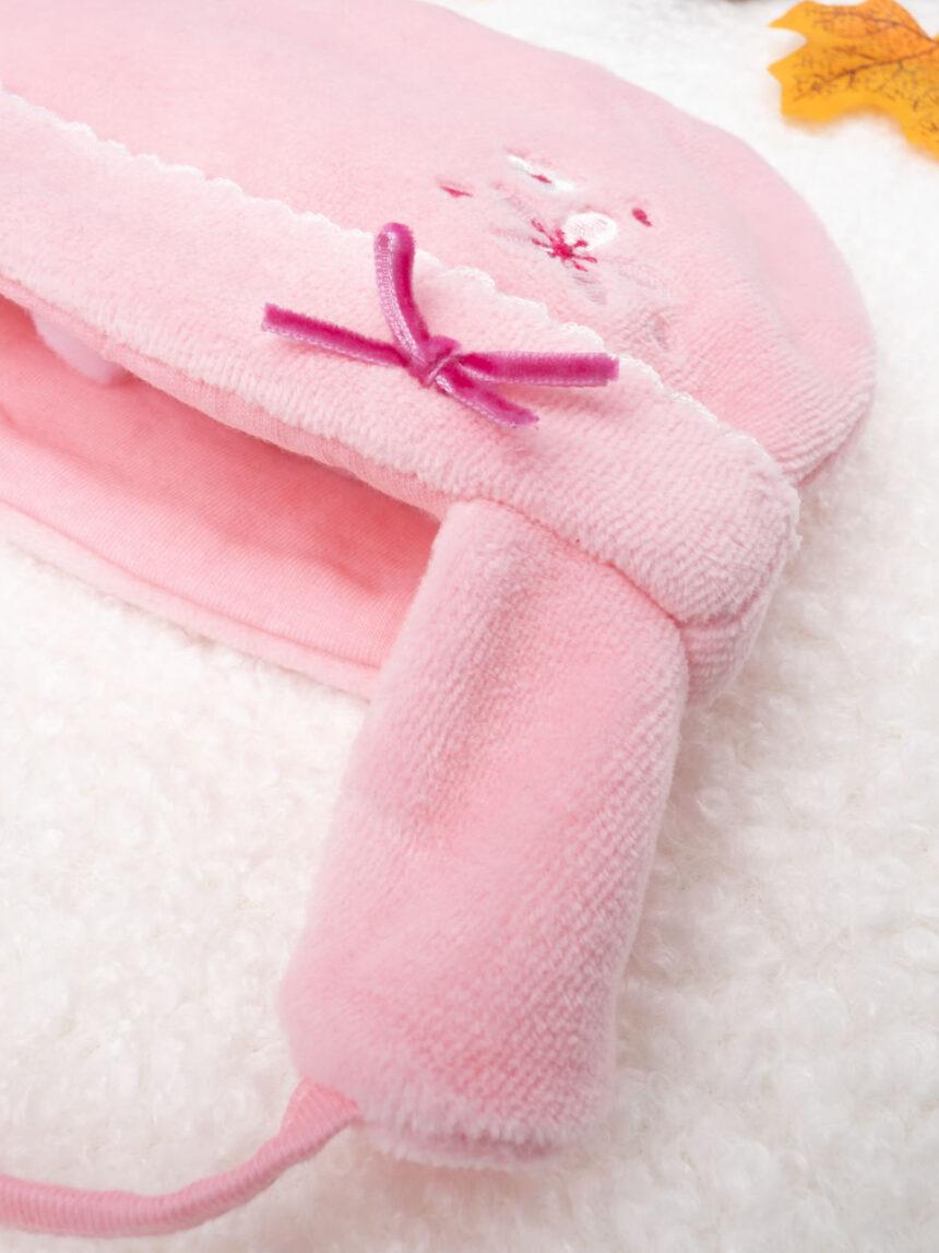 Chapéu rosa menina chenille - Prénatal