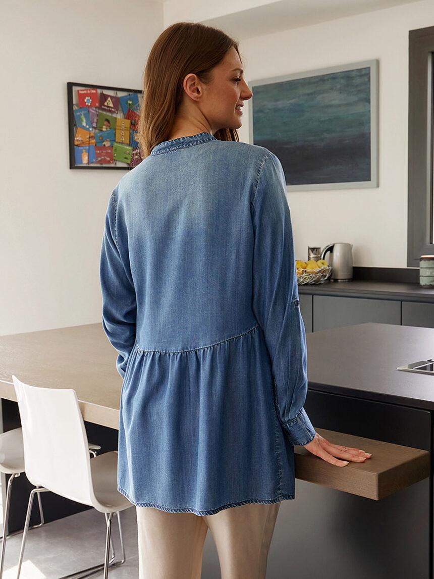 Vestido de lyocell para amamentação para maternidade - Prénatal