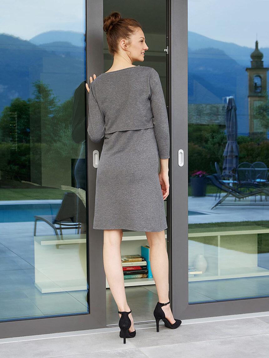 Vestido de amamentação em jersey de algodão - Prénatal