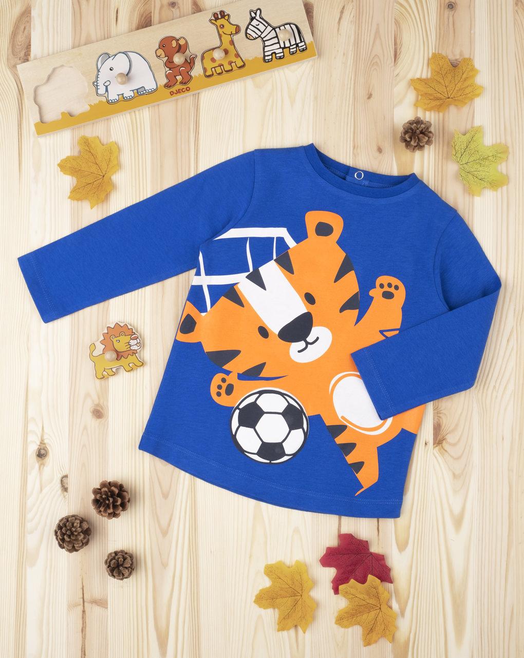 "Menino com camiseta ""tigrotto footballer"" - Prénatal"