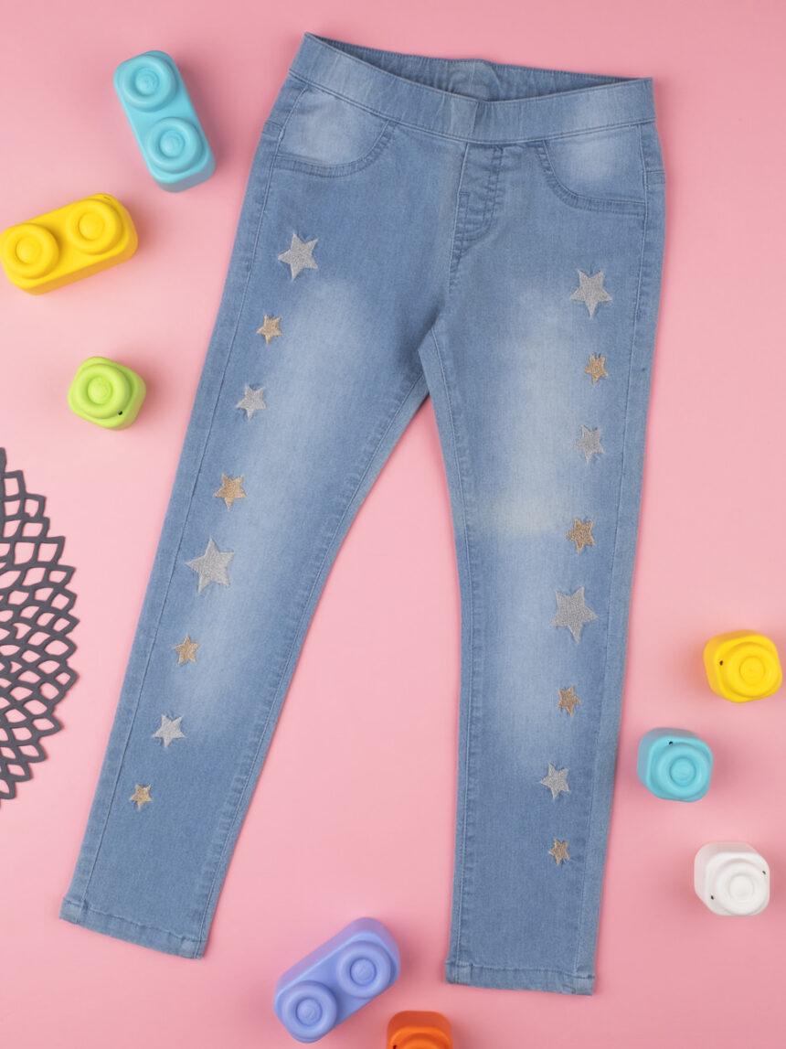 """Calça jeans menina """"estrelas"""" azul - Prénatal"""