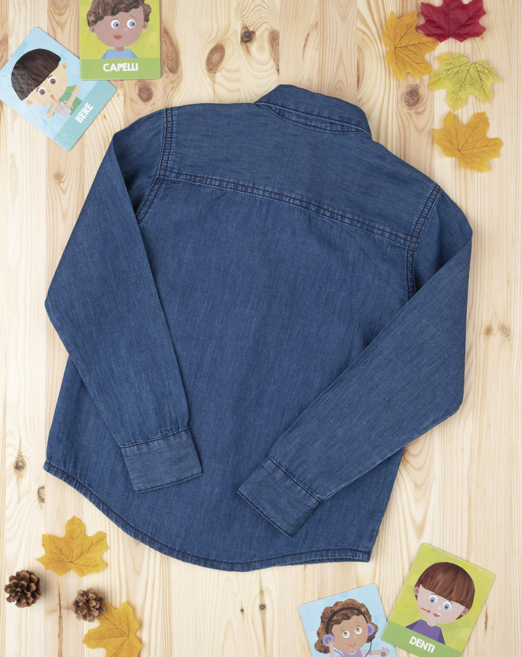 Camisa azul jeans menino - Prénatal