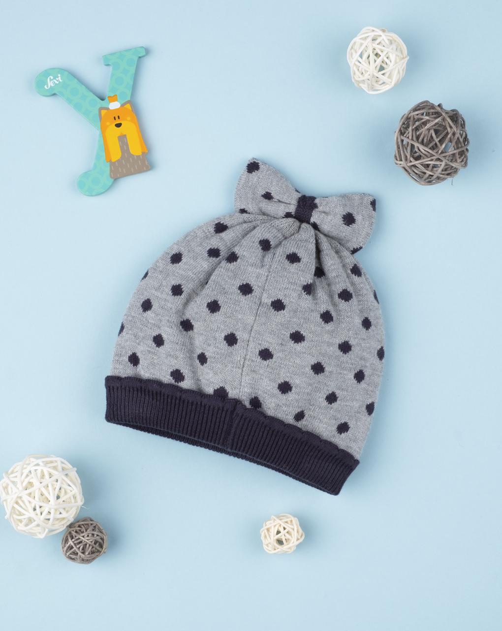 "Chapéu de menina tricot ""a pois"" - Prénatal"
