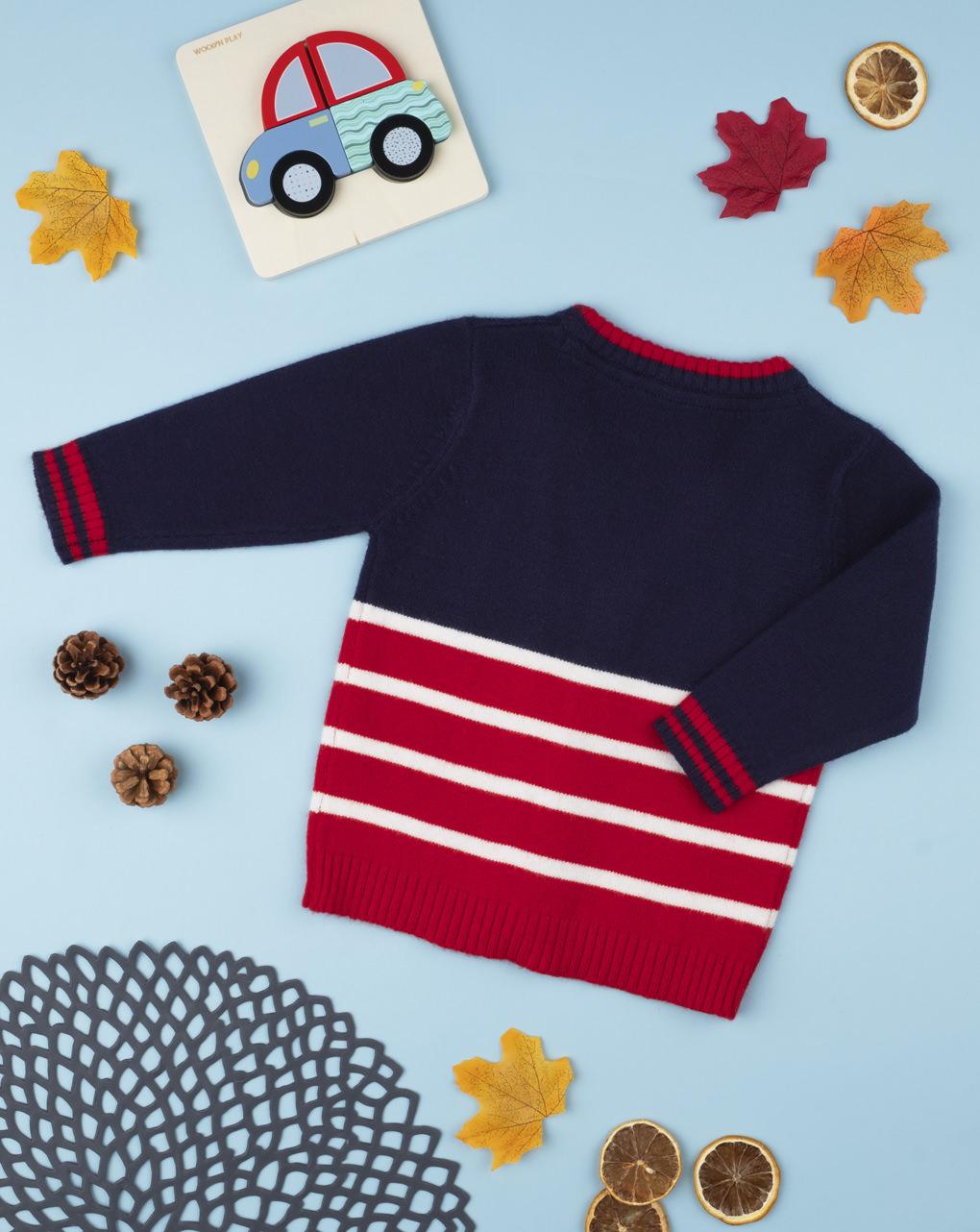 Cardigan tricot boy blu - Prénatal
