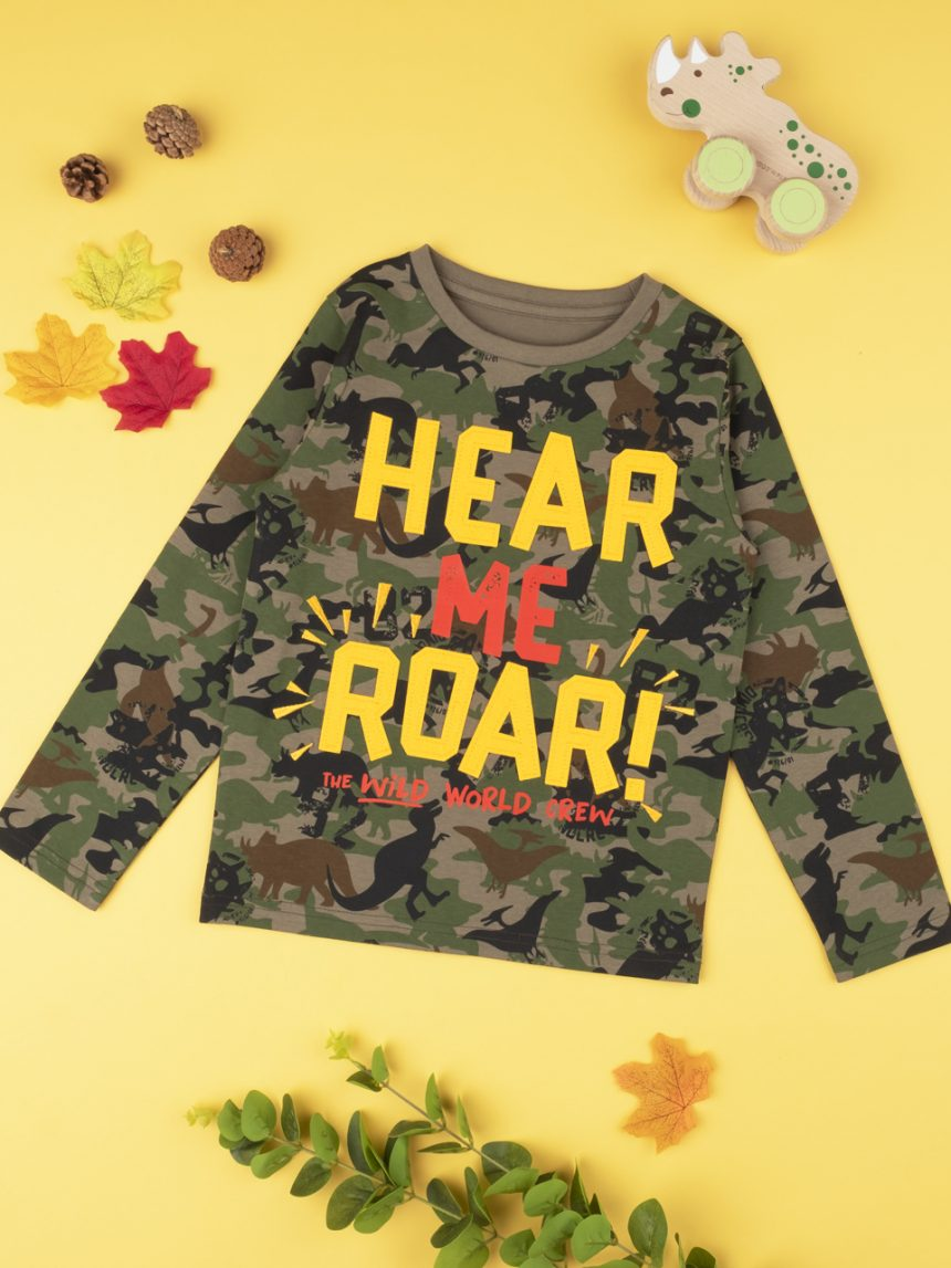 "Menino da camiseta ""here me roar"" - Prénatal"