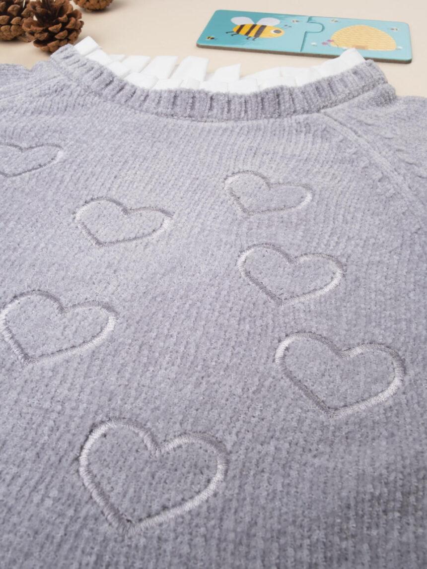 """Moletom - camiseta feminina de tricô """"corações"""" - Prénatal"""