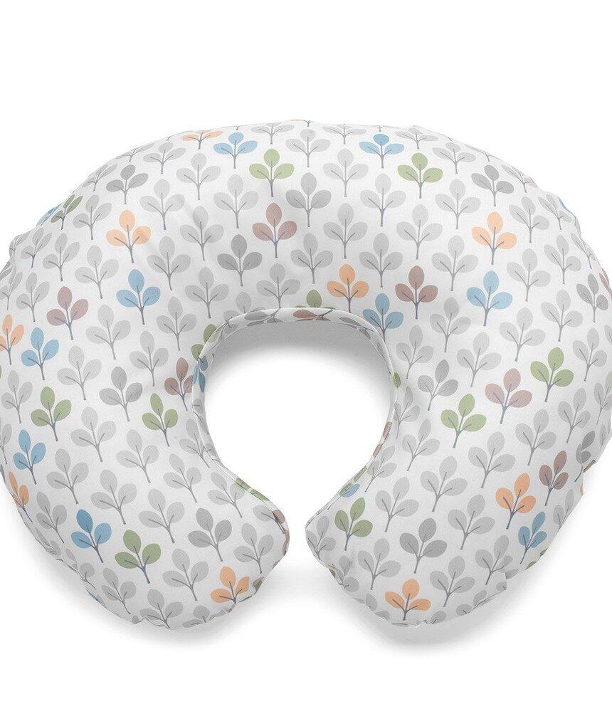 Boppy - cobertura do almofado de enfermagem com impressão de prata - Boppy
