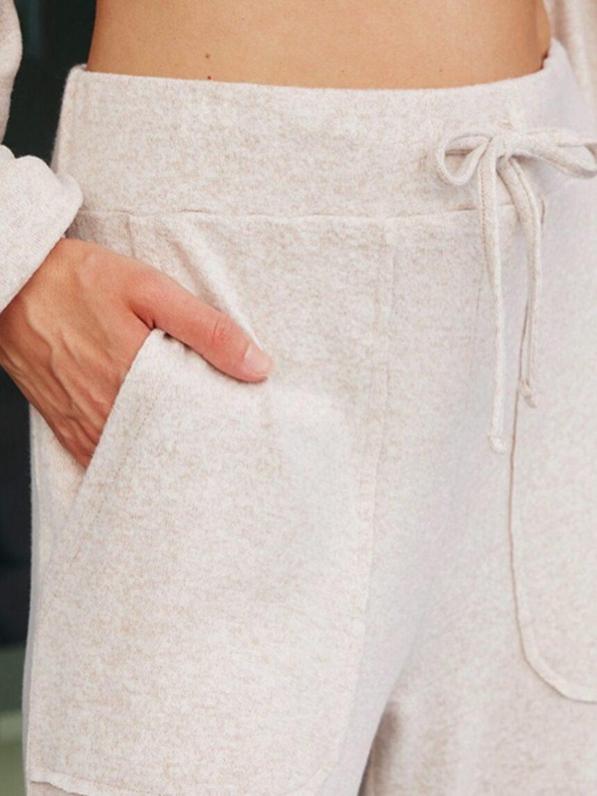 Calça de maternidade com efeito tricô - Prénatal