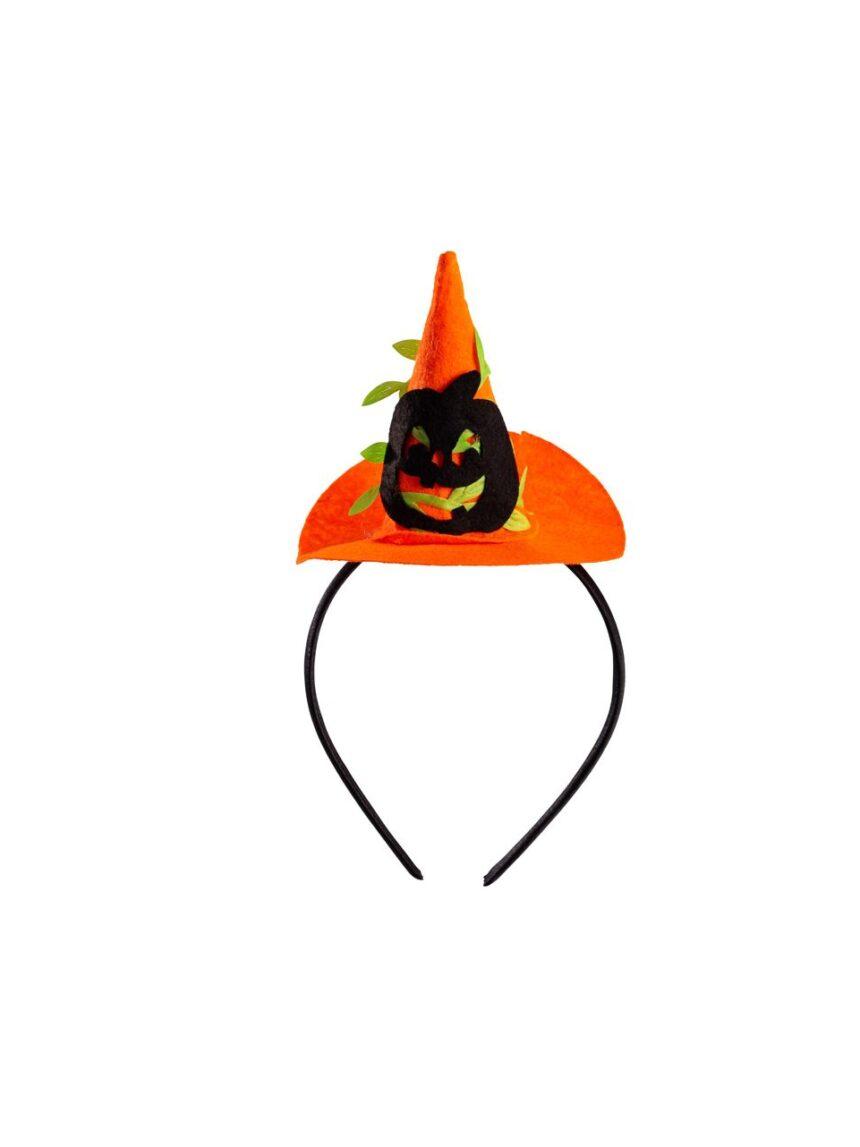 Chapéu mini bruxa com abóbora e headband - Carnival Toys